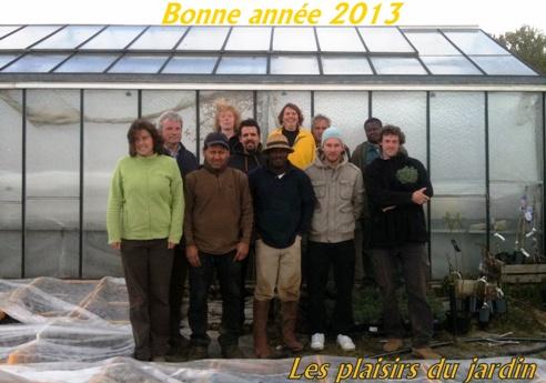 Plaisirs du jardin voeux 2013